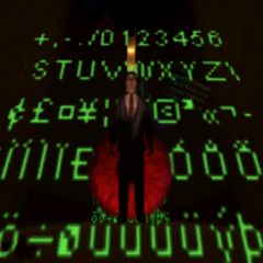 The same ghostly G-Man model among numbers, also used in the E3 2003 video