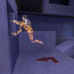 The <i>Half-Life: Day One</i> model in an early Hazard Course.
