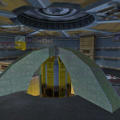 The Lambda Complex teleport, the Dimensional Portal Device.