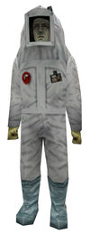 Scientist clean suit