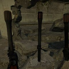 From Left: unused view model, world model, and the HL2: DM view model.