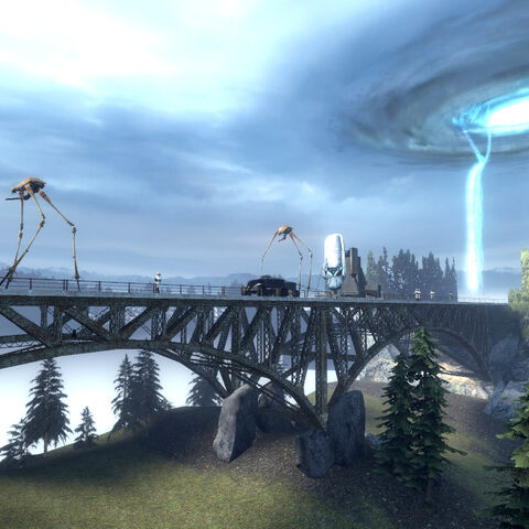 The Advisor Platform within its convoy in the Outlands.