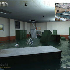 Flooded room in the chapter <i><a href=