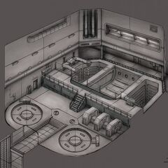 The Concept Art of Underground facility.