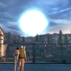 Eli and Alyx watching as the Superportal vanishes.