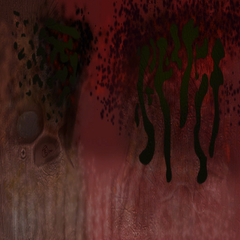 Texture for the red Bullsquid model, signed by Ted Backman.