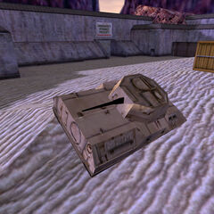 A wrecked Bradley in <i>Opposing Force</i>.
