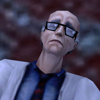 Peters' visible corpse in <i>Half-Life: Source</i>.