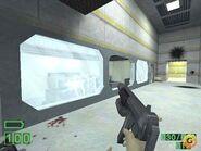 Old MP5 shooting glass