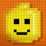 Lego credits logo minifigure happy