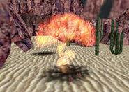 Land mine explode