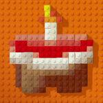 Lego credits logo cake