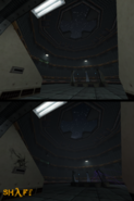 Test chamber before after