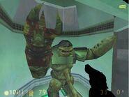 Alien Grunt traped