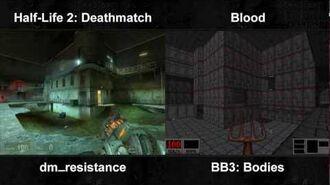 Half-Life 2 Deathmatch Blood - DM Resistance Bodies Comparison