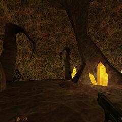Calhoun en el sistema de túneles