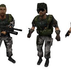 Todos los modelos de HECU, utilizados en Opposing Force