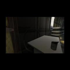Hoopy el aro detras de un escritorio en una Ratonera de Rattman