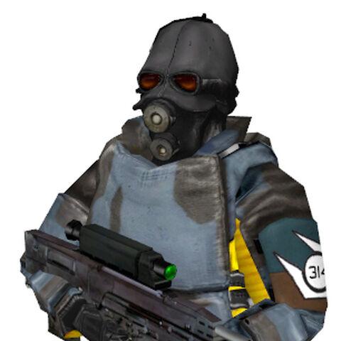 Soldado Overwatch de Half-life 2: Beta con el XM29 OCIW