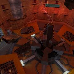 Cámara de pruebas destruída después de la secuencia de resonancias