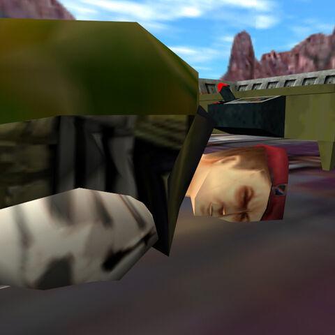 Cooper muerto al lado del mapa táctico
