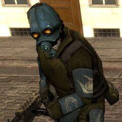Soldado Overwatch con una SPAS-12