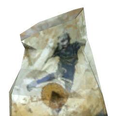 Bolsa de comida rapida con el simbolo de Protección Civil