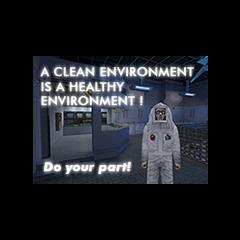 Propaganda del traje de salubridad