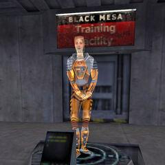 Cross como asistente holografico en Half-Life
