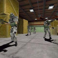Escuadrón de soldados en beta de Half-Life