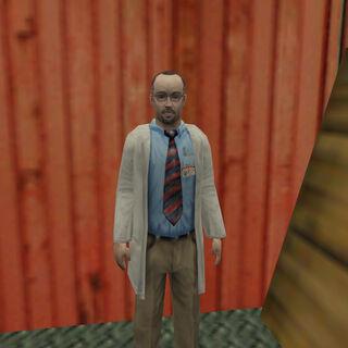 Rosenberg siendo descubierto en el patio de trenes por Barney Calhoun
