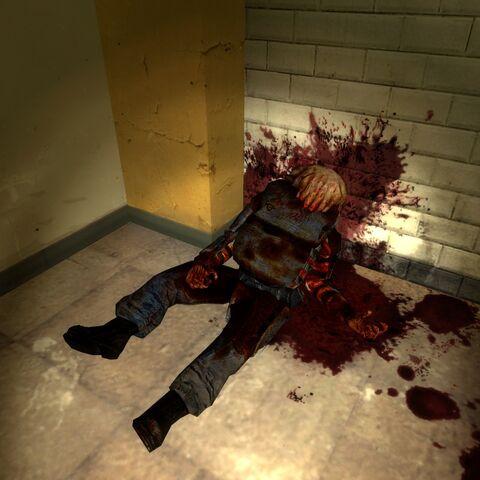 Zombine durmiendo en el hospital