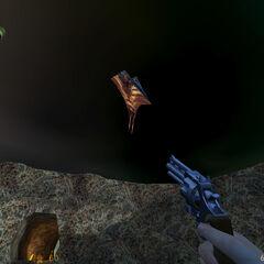 Aeronave Alienígena atacando a Calhoun