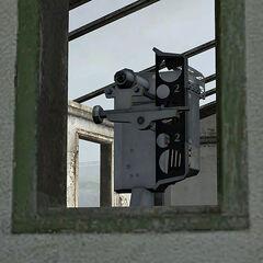 Los mismos binoculares vistos desde afuera