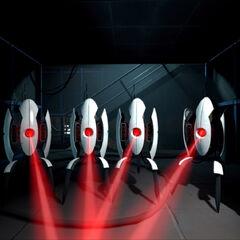 Cuarteto de Torretas al final de Portal 2