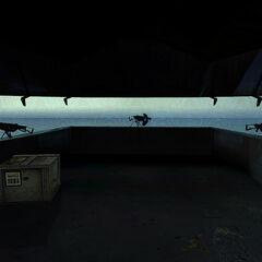 Ametralladoras en el interior de los Bunkers