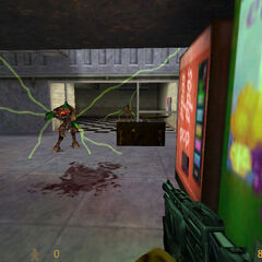 Vortigaunts atacando a Freeman en Black Mesa