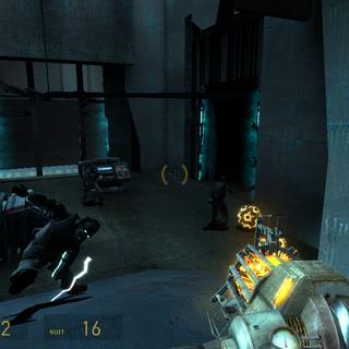 Soldados Overwatch luchando contra Minasrodadoras modificadas