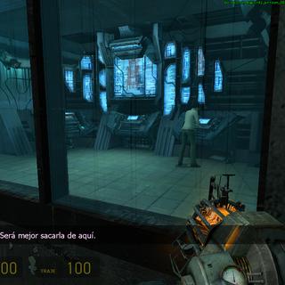 Mossman en una sala de alta seguridad