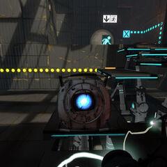 Easter Egg de Wheatley en una de las cámaras de Portal 2