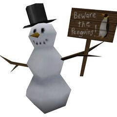 Hombre de nieve que reemplaza el modelo del Nido de Snark en CTF en Opposing Force