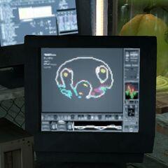 Cabeza del Cremador vista en un monitor ubicado en Black Mesa Este.