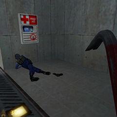 Guardia de seguridad agonizando/Primera aparición de la pistola Glock 17