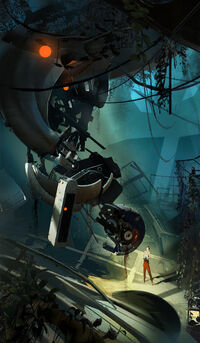 Chell glados staring contest (1)