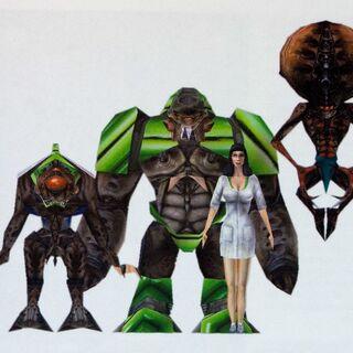 Modelo Renderizado con los personajes alienígenas de <a href=