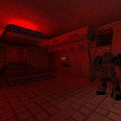 El jugador activa el interruptor de emergencia para salir de la habitación.