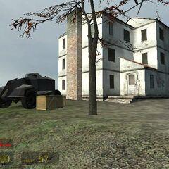 Casa abandonada usada por los combine.