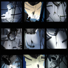 Arte conceptual de la cámara de GLaDOS, vistos en el DLC PotatoFoolsDaysARG
