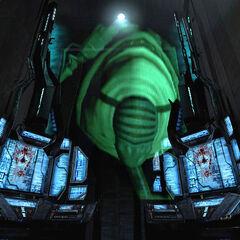 Consejero Combine en un monitor dentro de la Ciudadela