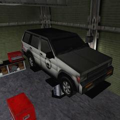 El SUV en la plataforma del Garage en Half-Life
